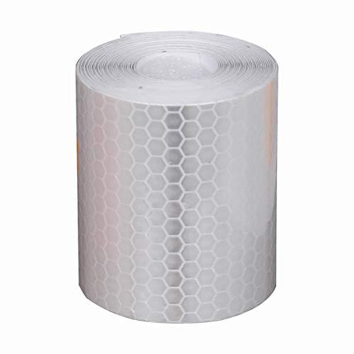 Naponior 2 Pack Reflektierendes Sicherheitsband, 3m x 50mm Selbstklebender Sicherheitsmarkierungshahn Prismatisches Warnband mit Hoher Sichtbarkeit für Fahrzeuge Autos Anhänger Fahrräder Helme