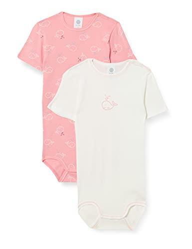 Sanetta Baby-Mädchen Body im Doppelpack rot Kleinkind Unterwäsche-Satz, Sharon, 086