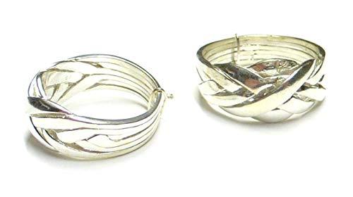 Anillo de plata, puzzle, tamaño 62 – 19.7/4, plata de ley, regalo joyas unisex