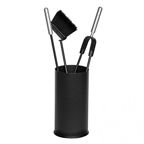 raik 21.02.904.2 Kaminbesteck, 3-teilig, schwarz, Edelstahlgriffe, 60cm