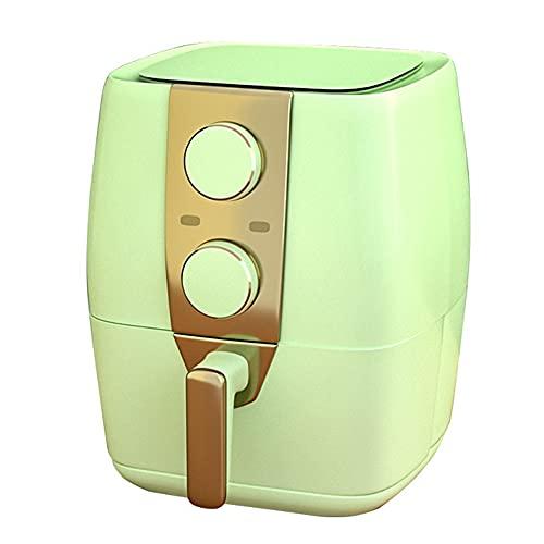 Freidora de aire, horno de 3.5 cuartos de 1200 W, antiadherente, fácil de limpiar, apagado automático, asar y mantener caliente, recordar precalentar y agitar, mango antiescarcha,Verde