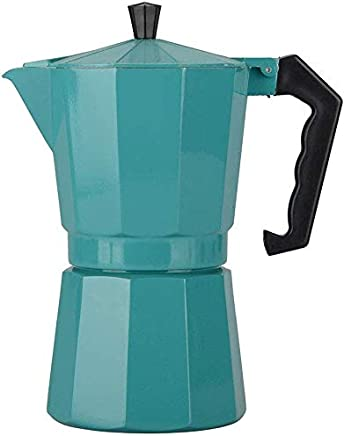 AMAZACER Coffee Maker Aluminum Mocha Espresso Percolator Pot Coffee Maker Moka Pot Stovetop Coffee Maker Octagonal Design Suitable for Home Kitchen And Outdoor,stainlesssteel (Color : Blue)