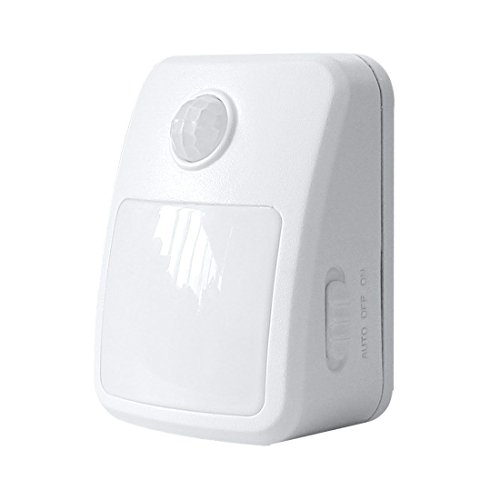 GAO EMN405PIR, LED Orientierungslicht mit Bewegungsmelder, batteriebetrieben, Plastik, Weiß, 4.3 x 7 x 9 cm