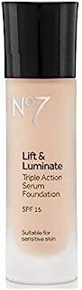 No7 Lift & Luminate TRIPLE ACTION Serum Foundation - Warm Beige