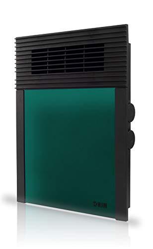 HJM Termoventilador Calefactor Vertical 638 | Suelo y Pared | Silencioso | 1000W-2000W, 2000 W, Plástico, 638V Verde