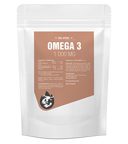 OMEGA 3 1000 mg | 500 Softgel-Kapseln Vorratspackung | Premium Lachsöl/Fischöl | Hochseefisch + Vitamin E, 18% EPA / 12% DHA | Gesunde Fettsäuren | Zum Fairen Preis (500 Kapseln)