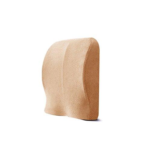 QIHANGCHEPIN Taillen-Stützkissen-Finger drückte zurück Schulter-Massage-Kissen-Kissen, Speicher-Baumwollkissen, für Auto-Zuhause u. Büro - (Mehrfarben) (Farbe : Khaki)