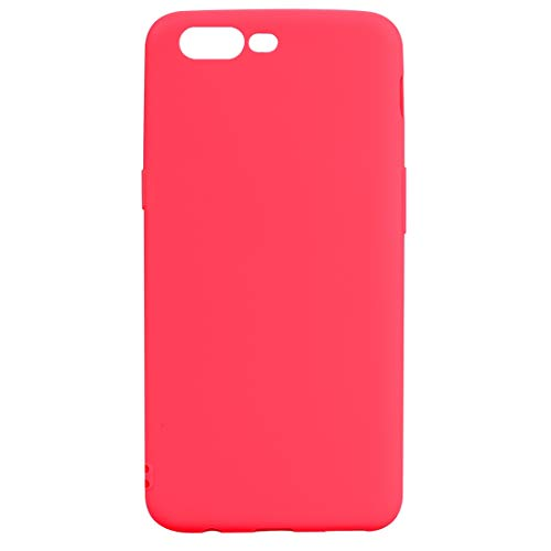 BSA - Funda para OnePlus 5 A5000, color rojo, de poliuretano termoplástico flexible, ultrafina, antiarañazos, compatible con smartphone