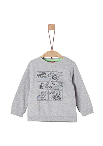 s.Oliver Baby-Jungen 65.908.31.8652 Langarmshirt, Grau (Grey Melange 9400), (Herstellergröße: 92)