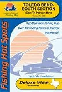 Toledo Bend Fishing Map - South (Louisiana Fishing Map Series)