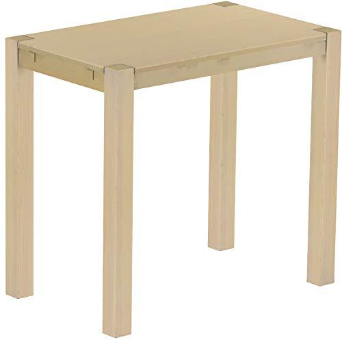 Brasilmöbel Hochtisch Rio Kanto 120x73 cm Birke Bartisch Holz Tisch Pinie Massivholz Stehtisch Bistrotisch Tresen Bar Thekentisch Echtholz Größe und Farbe wählbar