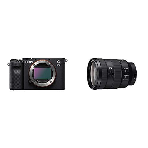 Sony Alpha 7C Full-Frame Mirrorless Camera - Black with Sony - FE 24-105mm F4 G OSS Standard Zoom Lens (SEL24105G/2)