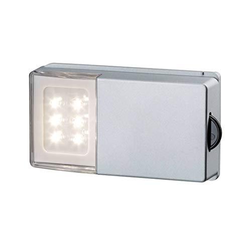 Paulmann 70498 Schrankleuchte SnapLED mit Gleitrolle Silber Licht an bei geöffneter Tür Licht aus bei Druck auf die Rolle 4x15V Montage mit Klebepads