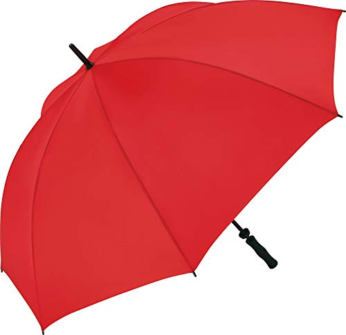 FARE Golf-Regenschirm Basic - XL 130 cm - Fiberglas - Golf-Sport Outdoor windsicher stabil (Rot)