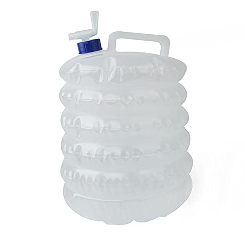 Dispensador de agua plegable de 15 litros con grifo, depósito de agua plegable, depósito de agua para camping, senderismo, pesca, escalada, picnic, barbacoa, viajes al aire libre