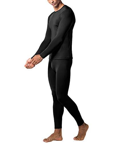 LAPASA Set de Ropa Térmica para Hombre. -Brushed Back Fabric Technique- M11 (XXL, Special Black (Negro))