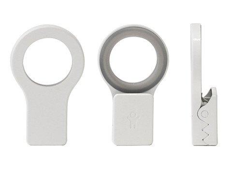 bosign Bosing-Clip per Asciugamani, 2 Pezzi, Colore: Bianco, 1