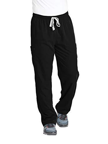 Grey's Anatomy Men's Modern Fit Cargo Scrub Pant, Black, Large