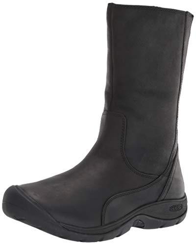 KEEN Women's Presidio 2 Boot Mid Calf, Black/Black, 5.5