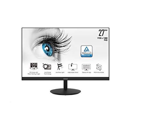 MSI Pro MP271 27 Zoll Profi Monitor IPS Full HD (1920 x 1080) 75Hz 5ms HDMI VGA integrierte Lautsprecher Anti-Glare Anti-Flicker Weniger Blaulicht TÜV Zertifiziert VESA Halterung