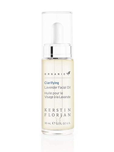 Kerstin Florian Organic Clarifying Lavender Facial Oil, Moisturize Skin with Vitamin E and Jojoba Oils 30ml/1 fl oz