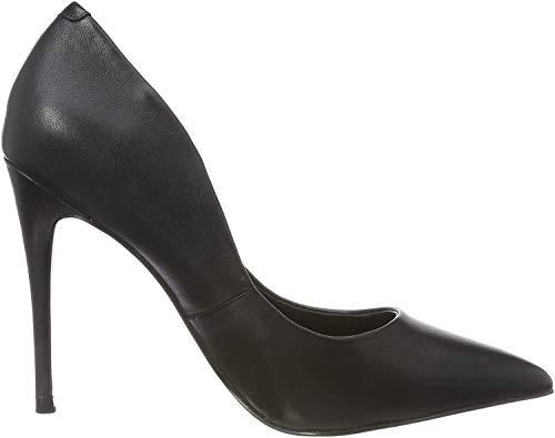 Steve Madden Damen Daisie Heel Pumps, Schwarz (Black Leather 017), 38 EU