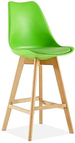Sedie Da Bar Con Sgabelli Da Bar Regolabili Sgabello da bar Metallo in legno Artificiale Pelle Artificiale Breakfast Bar Cucina Ufficio Bar Sgabello Casual Chair Chair Multicolor ( Color : Green )