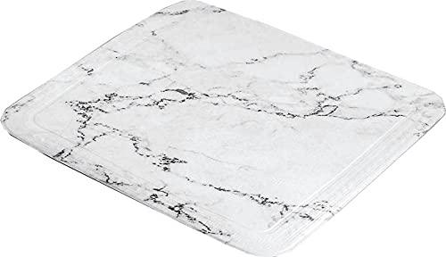 Kleine Wolke Marble, PVC Schaum, Anthrazit, Duscheinlage