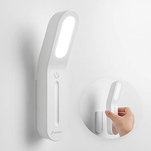 Zanflare Luz LED portátil para gabinete,4W 6000K,Luz Recargable con USB Luz táctil,para lectura,escritura,cocina,armario,escaleras,cajón,Brillo ajustable