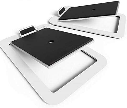 Kanto S4 Desktop Speaker Stands for Midsize Speakers | White | Pair
