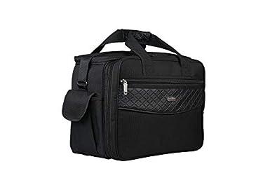GOLDLINE Stylish Office Bag 40L/Tool Bag/Mechanic Bag/Electrician Bag/Marketing Bag/Multipurpose Bag/Satchel with Removable Shoulder Strap and Zippered Pockets Inside(44x27x33cm, Black)