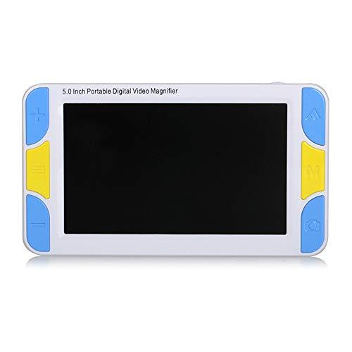 Saiko Handportable Video Digital Magnifier, 5 Zoll TFT LCD Elektronische Lesehilfe Leselupen,Tragbar 4X-32X Zoom Digital Lupe Elektronische Lesehilfe Sehhilfe