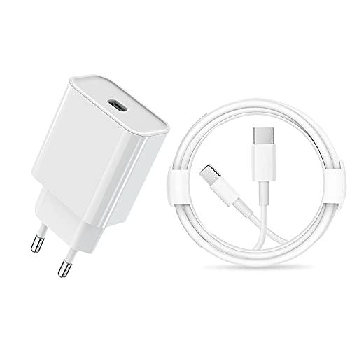 ASENTER Cargador Carga Rapida USB C PD 20W Fast Charge 3.0 con 2 Metros Cable MFi Certificado Cargador Rápido Adaptador para iPhone 12 Pro MAX Mini /11/XS/XR/X/8 Plus/iPad Pro