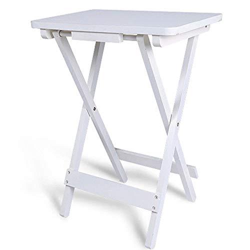 Klaptafel verstelbaar witte salontafel buiten klapbaar bijzettafel kinderbureau kleine vierkante tafel 610 x 450 x 300 mm draaibaar