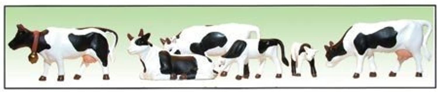 Model Power O Cows & Calves, Black White (6) MDP6175 by Model Power