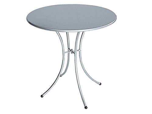 Pigalle Table ronde Ø cm. 80 Emu Item.906 Couleur Aluminium Cod.20