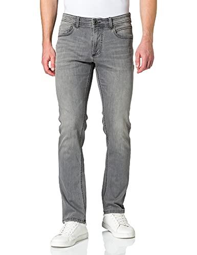 camel active Herren 5-Pocket Houston Straight Jeans, Grau, W38/L34