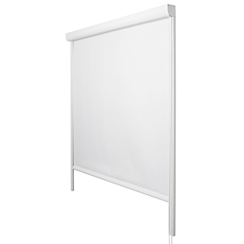 Sol Royal - Estores Enrollable Sol Reflect K24-60x175 cm - Persiana 100% oscurecente con rieles de guía - Blanco