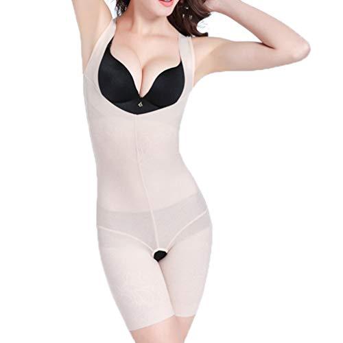Bodysuit Slimming Waist Full Body Shaper Lift Breast Corset Thigh Trimmer Butt Lifter Shapers Plus Size 5XL Beige