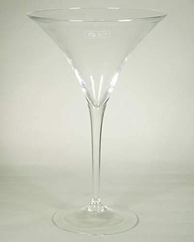 INNA-Glas Cocktailglas Ivana auf Standfuß, Trichter - rund, klar, 40cm, Ø 25,5cm - Martiniglas XXL