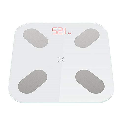 mi ni vloerweegschalen Digitale lichaamsgewicht weegschalen die 13 gegevens meten, zoals BMI Smart Weegschalen met APP 150KG Wit