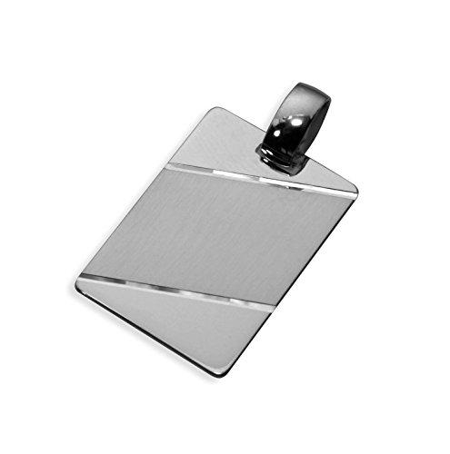 Echt Sterling Silber 925 Anhänger Gravurplatte 25x17mm (Art.201001) Gratis Express Gravur
