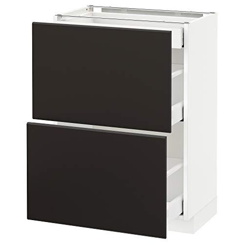METOD/Maxim bashytt med 2 fronter/3 lådor 60 x 39,2 x 88 cm vit/Kungsbacka antracit