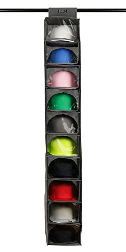 Boxy Concept Hat Rack with Dust Shield - 10 Shelf Hat Organizer for Baseball Caps and Hats - Keep Your Hats in Shape, Dust Free and Keeps Your Home Tidy - Hat Racks for Baseball Caps Storage