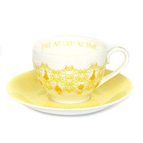 English Ladies Co. Disney Princess Colour Story Teacup and Saucer : Belle – from Beauty and The Beast