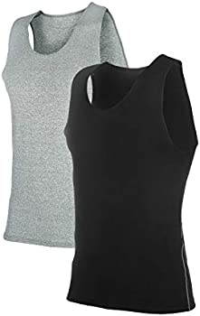 2-Pack Siboya Men's Sleeveless Compression Muscle Tank Top