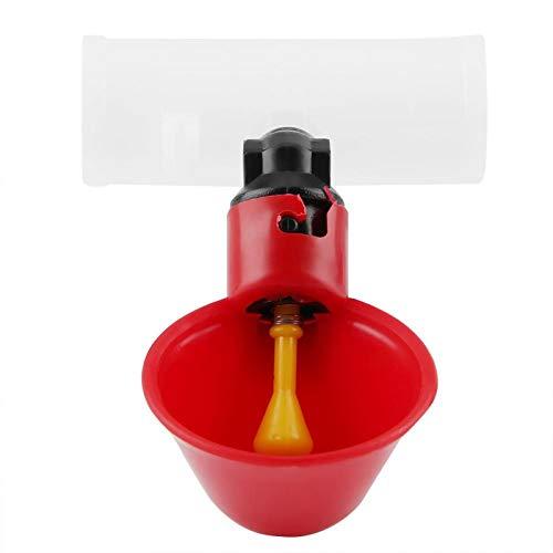 Oumefar 5 uds, Vasos para Beber Agua para Aves de Corral, alimentador para pájaros, Bebedero automático de plástico para Ganado, Pollo, gallina, gallinero, Arco(25mm)
