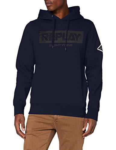 Replay Herren M3219 .000.21842 Sweatshirt, 85 Blue, S