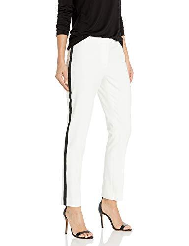 Calvin Klein Women's Tuxedo Pant, Cream, 8