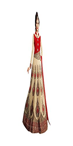 Blanco Ready to Wear Mujeres Musulmanas Boda Nupcial Vestido Largo Piso Tocar Diseñador Anarkali Salwar Kameez Stock